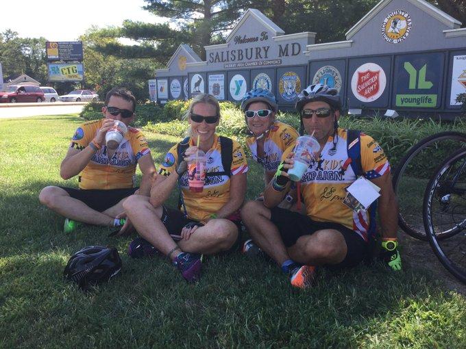 My trek team was riding too fast= Slurpee break in Salisbury. #mdtrek3 should finish in #ocmd around 2 pm