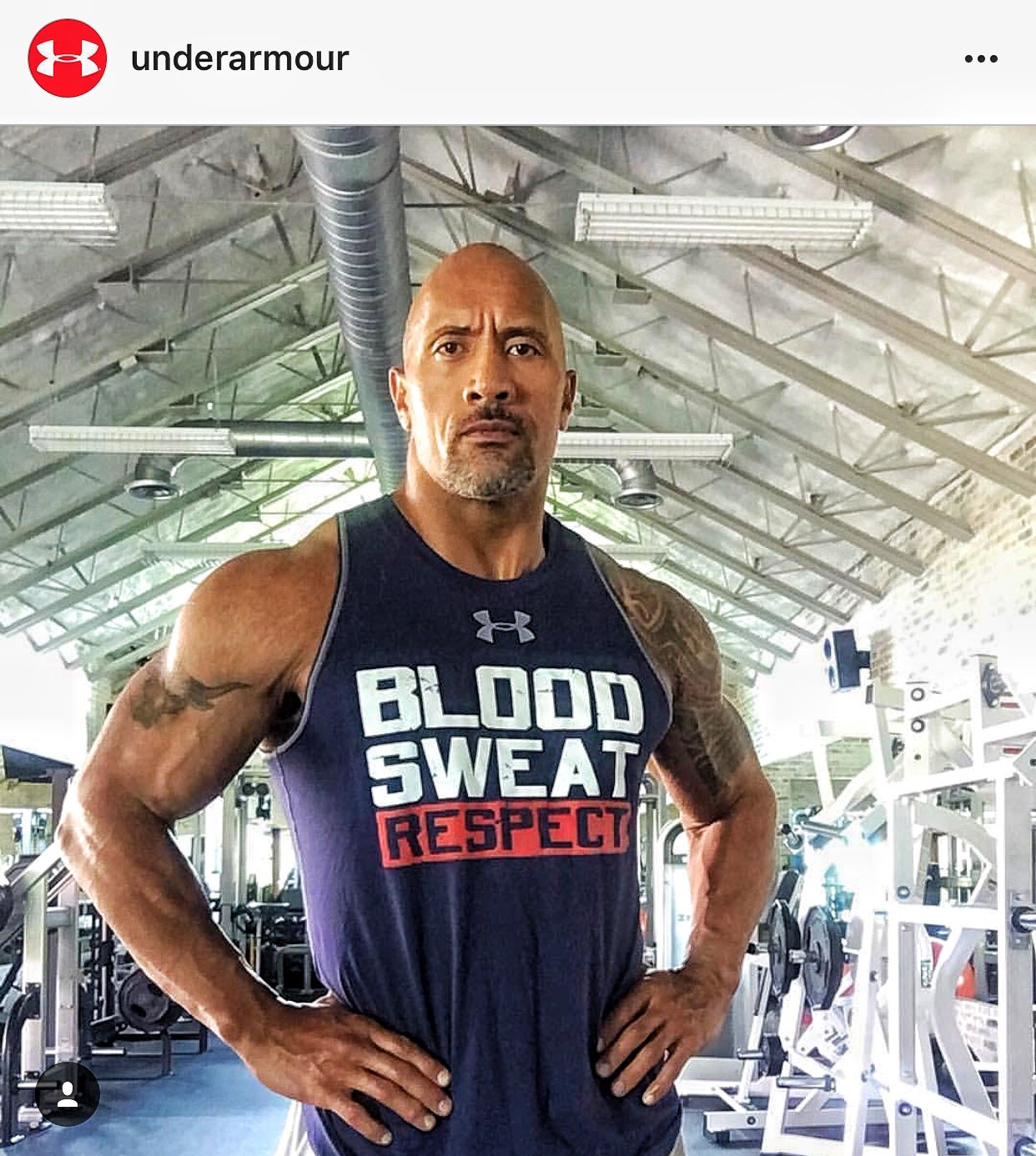 Thank U for making our #ProjectRock shirts, @UnderArmour's #1 seller. #BloodSweatRespect������ https://t.co/vYtBQVsMjX https://t.co/Al7dRHdtx6