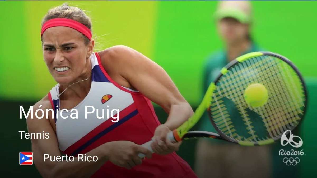Today all Puerto Ricans will raise their voices for a 22 yo @Olympics #PUR tennis player! Grande eres @MonicaAce93! https://t.co/HMYrEoWgsC
