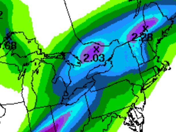 10-20 mm of rain due in Ottawa thru early Sunday, with even more in some areas W of Ottawa. Flora & Fauna dancing https://t.co/cvNtzLEuJ2