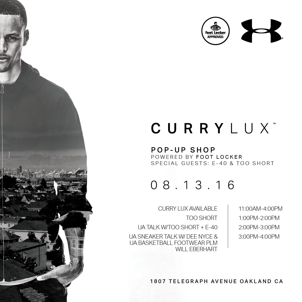 17606cd2f88b oakland experience the foot locker x under armour curry lux pop up shop  featuring special guests