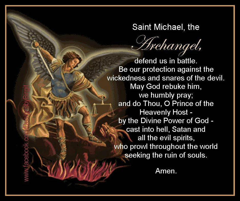 archangel michael prayer - 939×787