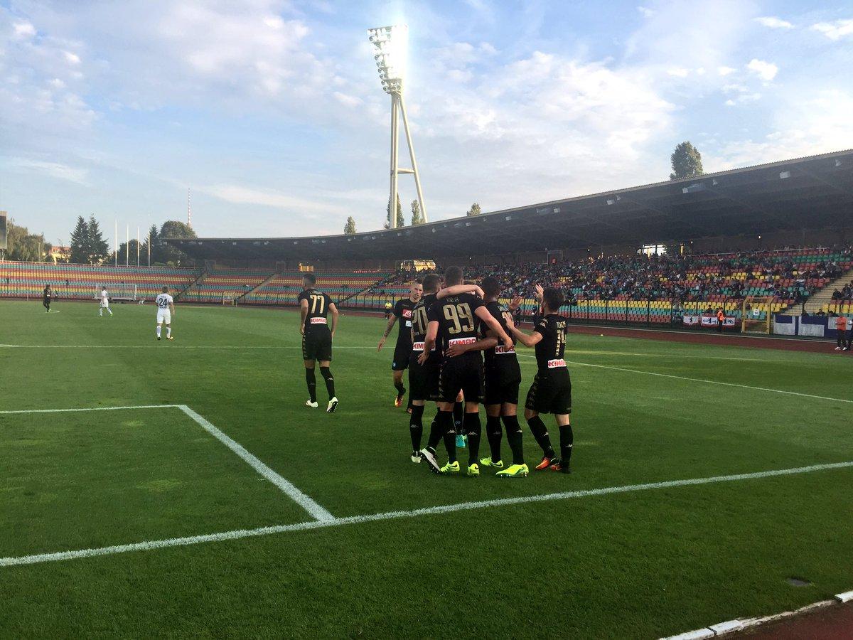 Hertha Berlino-NAPOLI finisce 1-4 con Mertens Milik CallejonI e Hamsik