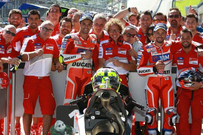 MotoGP AustrianGP: Trionfo Ducati con Iannone (1a volta) e Dovizioso, Valentino 4°