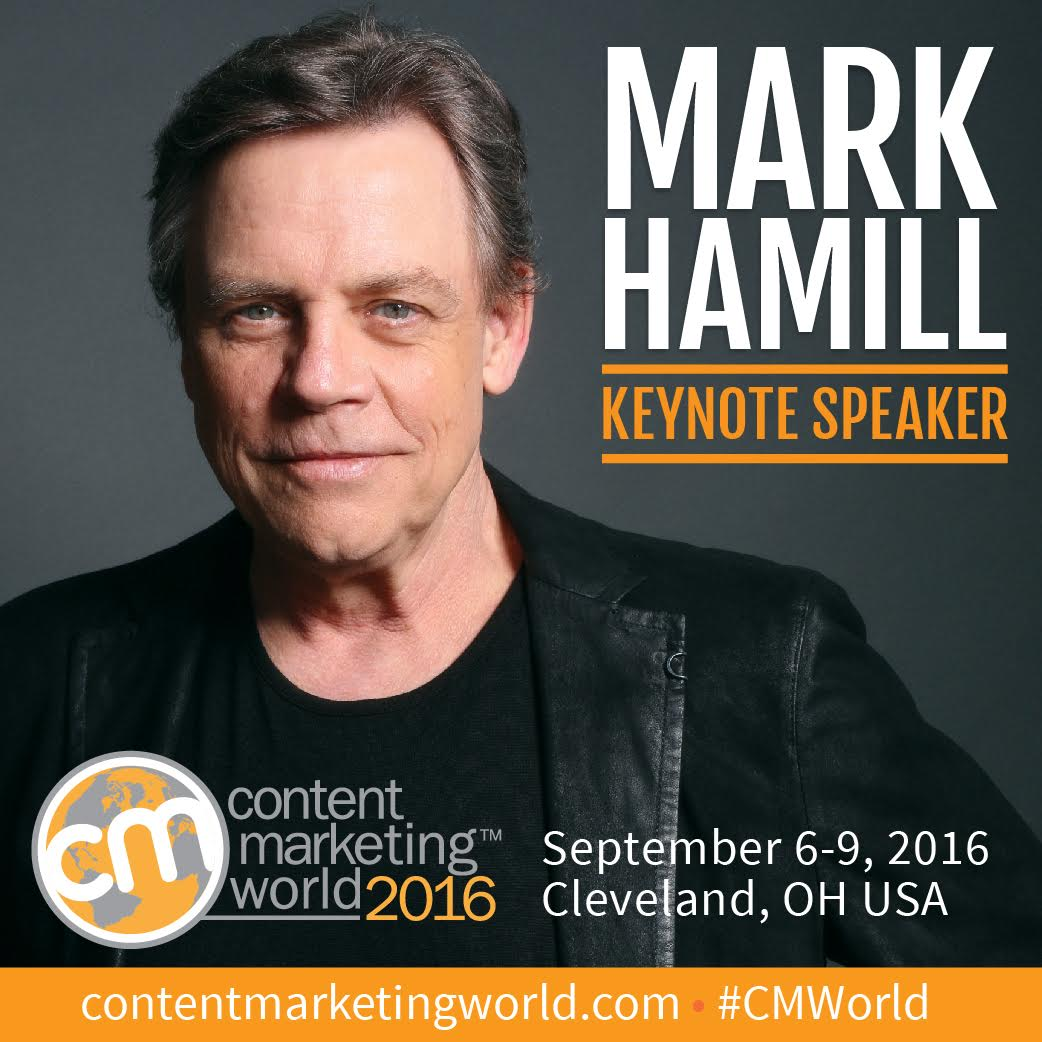 Don't miss me and @HamillHimself at #ContentMarketing World. It's gonna be a great. https://t.co/ZWYSy60Eh2 #CMWorld https://t.co/f1fbuebP4u