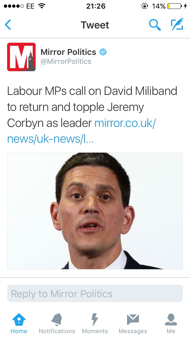 Stop trying to make David Miliband happen. It's not going to happen. https://t.co/zte1IKPyKY