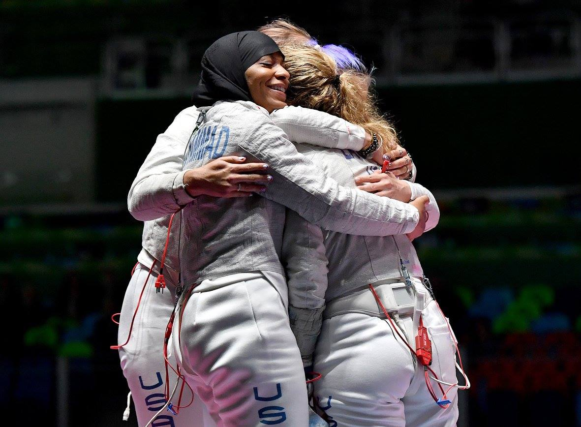 #USA Bronze medalists in women's team sabre, victory over #ITA 45-30. Congratulations #fencing at #Rio2016 #Olympics https://t.co/Xz4iSrdxrn