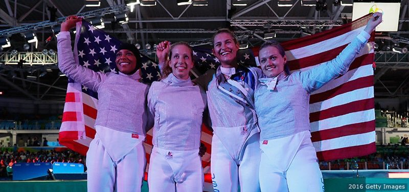 Congrats to Hoboken resident @DagaUSAFencing & US Women's Sabre Fencing Team on their bronze medal!! #Rio2016 https://t.co/FQCHPsG2kD