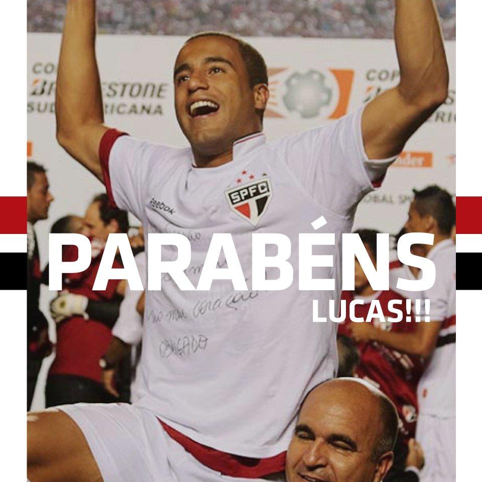 """Lucas Moura Sao Paulo: São Paulo FC On Twitter: """"Parabéns, @LucasMoura7! O"""