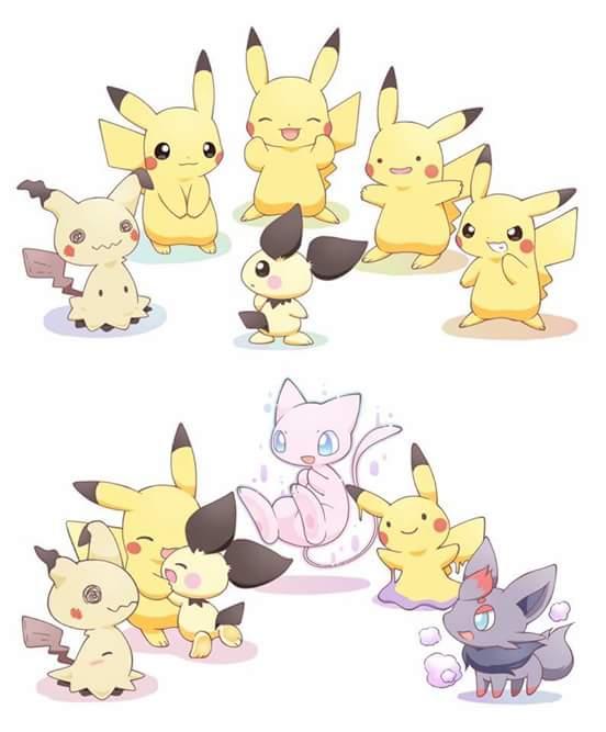 sᵃᵈᴵᵗ ˢᴸᶦᶠᵉ on twitter cute mimikyu pikachu mew