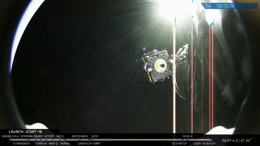 SpaceX Falcon 9 comes home after successful satellite launch