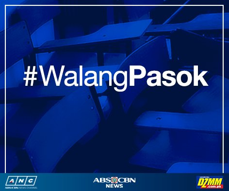#WalangPasok All levels in Manila on Monday (Aug. 15, 2016) both public and private - Mayor Erap Estrada