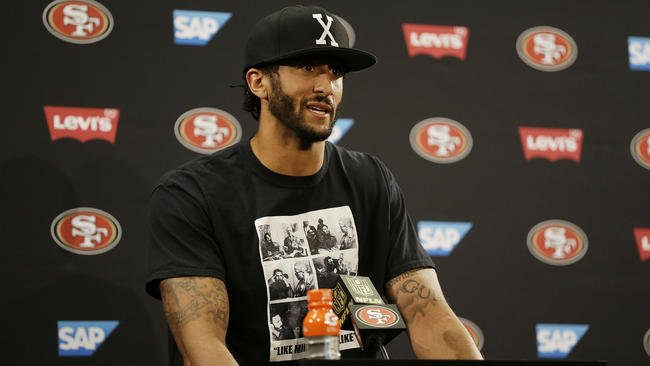 Colin Kaepernick will sit through national anthem until there's change
