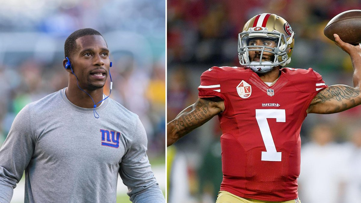 Giants' Cruz, Pugh voice disagreement with Colin Kaepernick