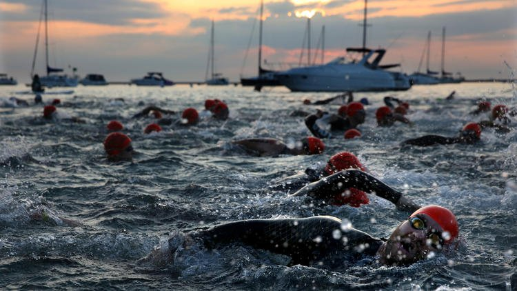 Sights from this morning's Transamerica Chicago Triathlon