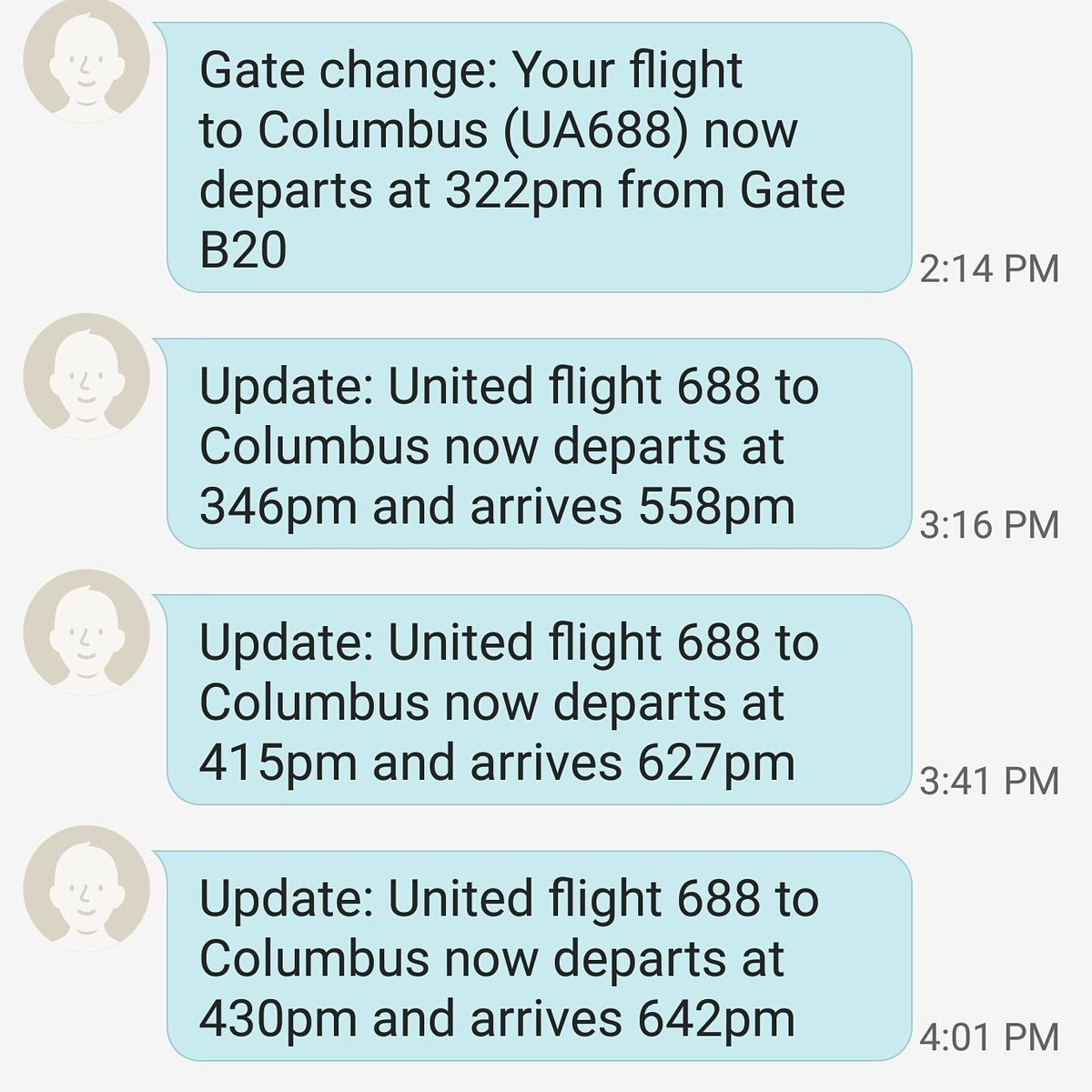 I hate @united seriously? 3 delays and I still haven't boarded. https://t.co/PVMoeRJqZn