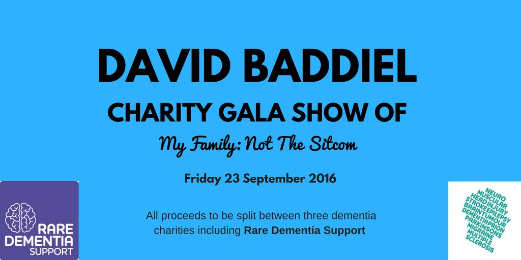 RT @BrainAppeal: Book NOW for David @Baddiel 's show in aid of dementia charities inc. Rare Dementia Support: https://t.co/NiwK8Hacyu https…