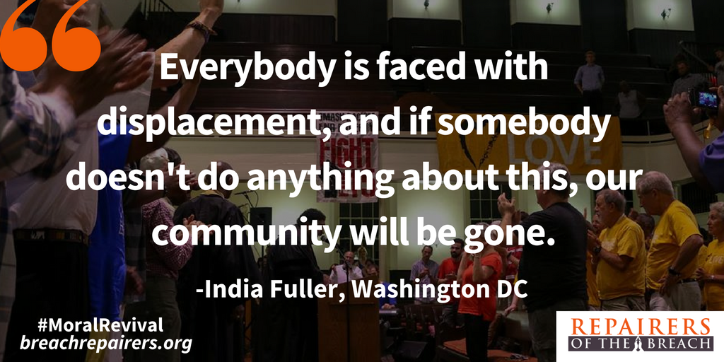Somebody is hurting our housing! India Fuller speaks to housing crisis in DC #moralrevival https://t.co/4CLZJtHy07