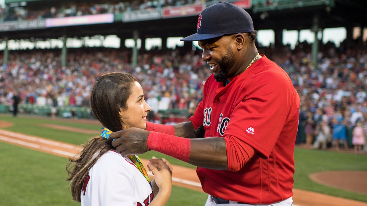 Video: Aly Raisman Throws Out First Pitch At Red Sox Game