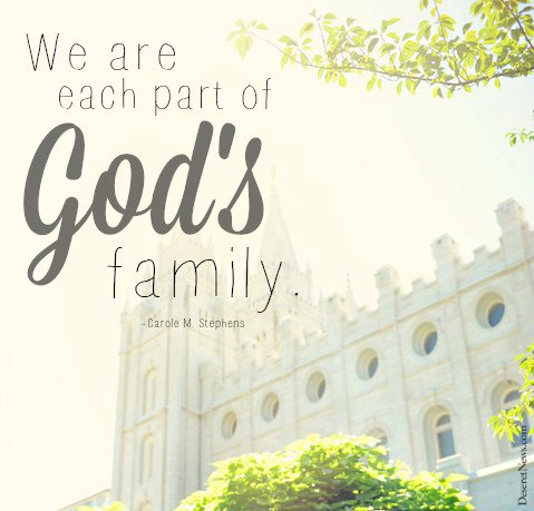 Generalconference On Twitter We Are Each Part Of Gods Family