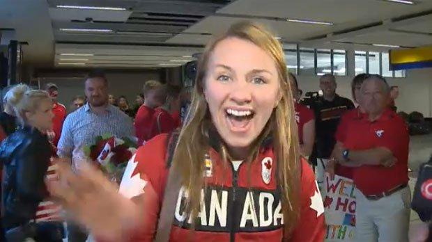 Olympic wrestling champ returns to Calgary. @CTVBMacfarlanewas there
