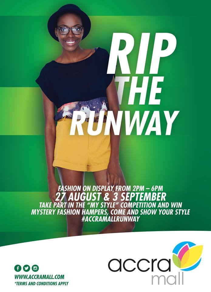 Tomorrow at the Accra Mall. 2pm sharp! Don't miss! #AccraMallRunway https://t.co/ZqX1Ot9oOi