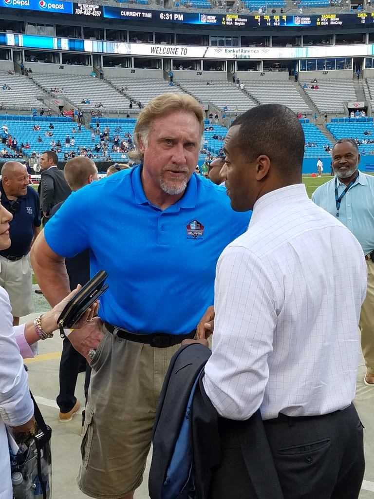 92dd9bd0ea0 Former  Panthers star and Pro Football Hall of Fame member Kevin Greene in  the house