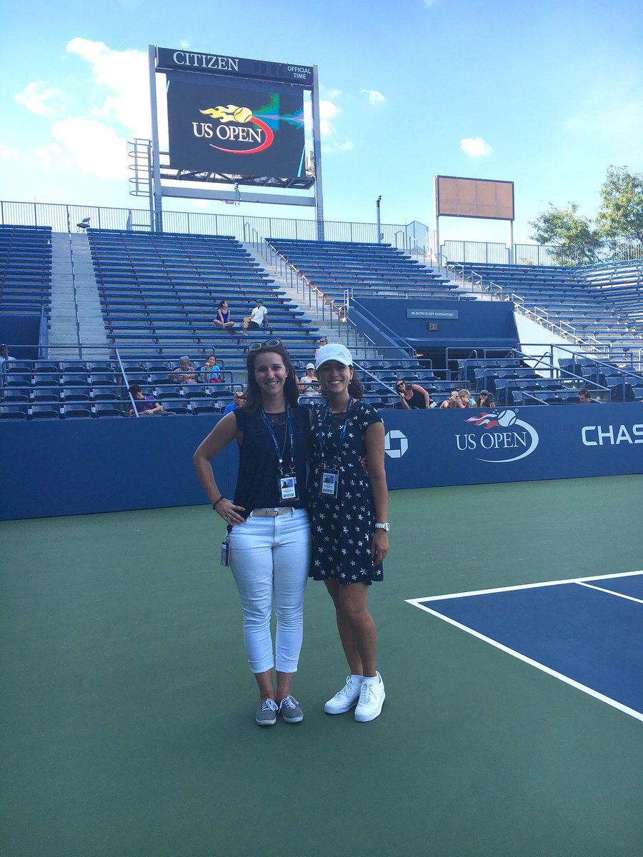 Pic featuring: Cate & me post shoot w/ Andy Murray. (Not featured: video of me sweaty & running around w/ camera)