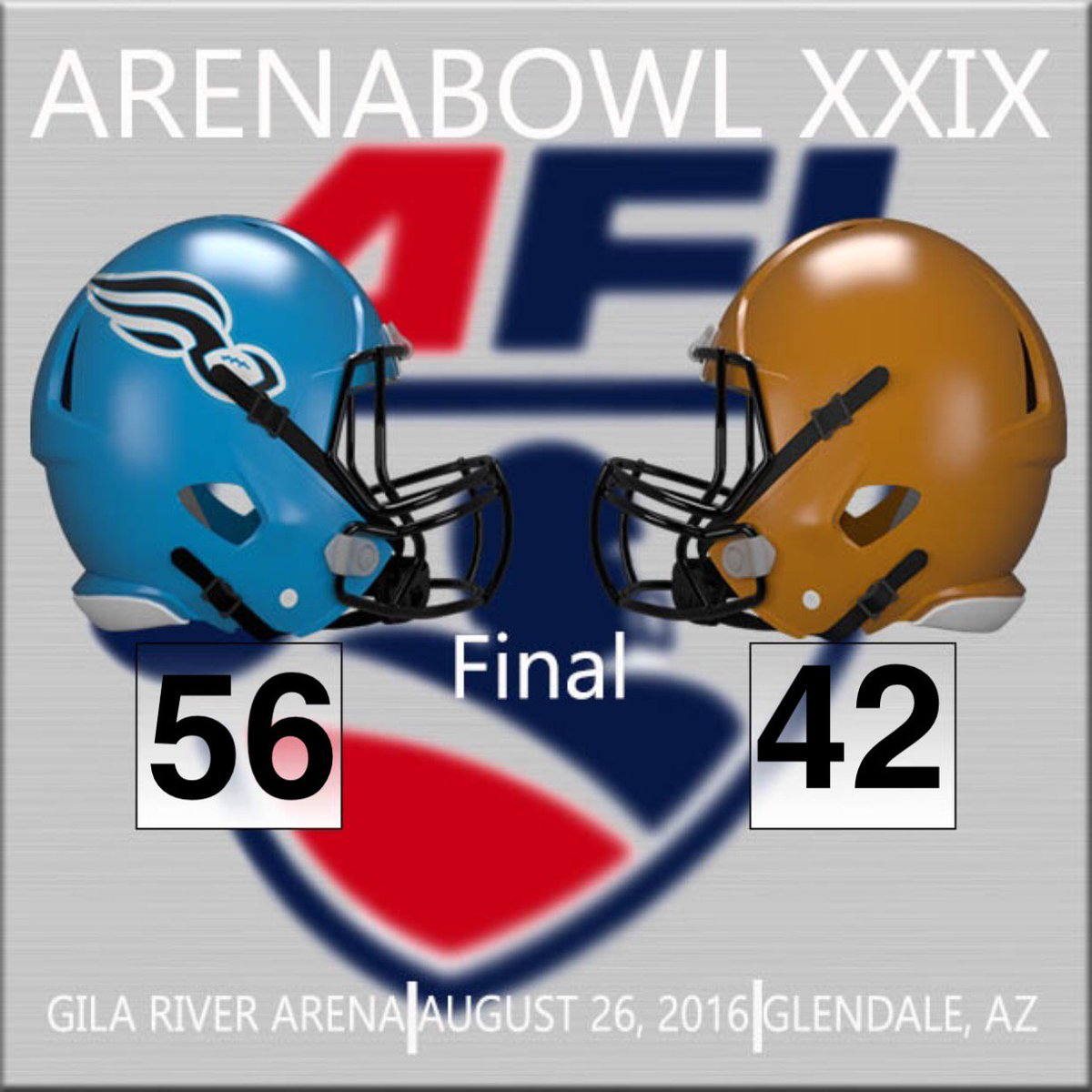 Final in Glendale!! The Philadelphia Soul are the 2016 ArenaBowl Champions!! #ArenaBowlXXIX #AFLonESPN #AFL29 https://t.co/wOV8DdrWzq