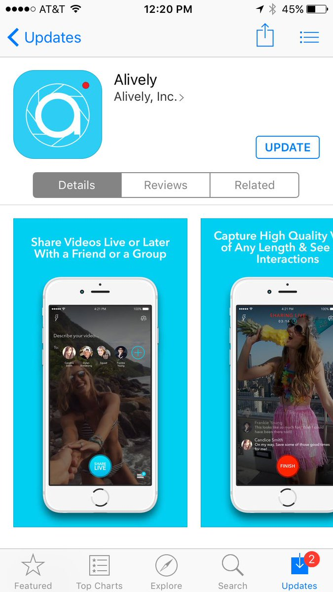 We made some fixes and updates to @alivelyapp. Get the update in the App Store! https://t.co/MGhAkWbmMR