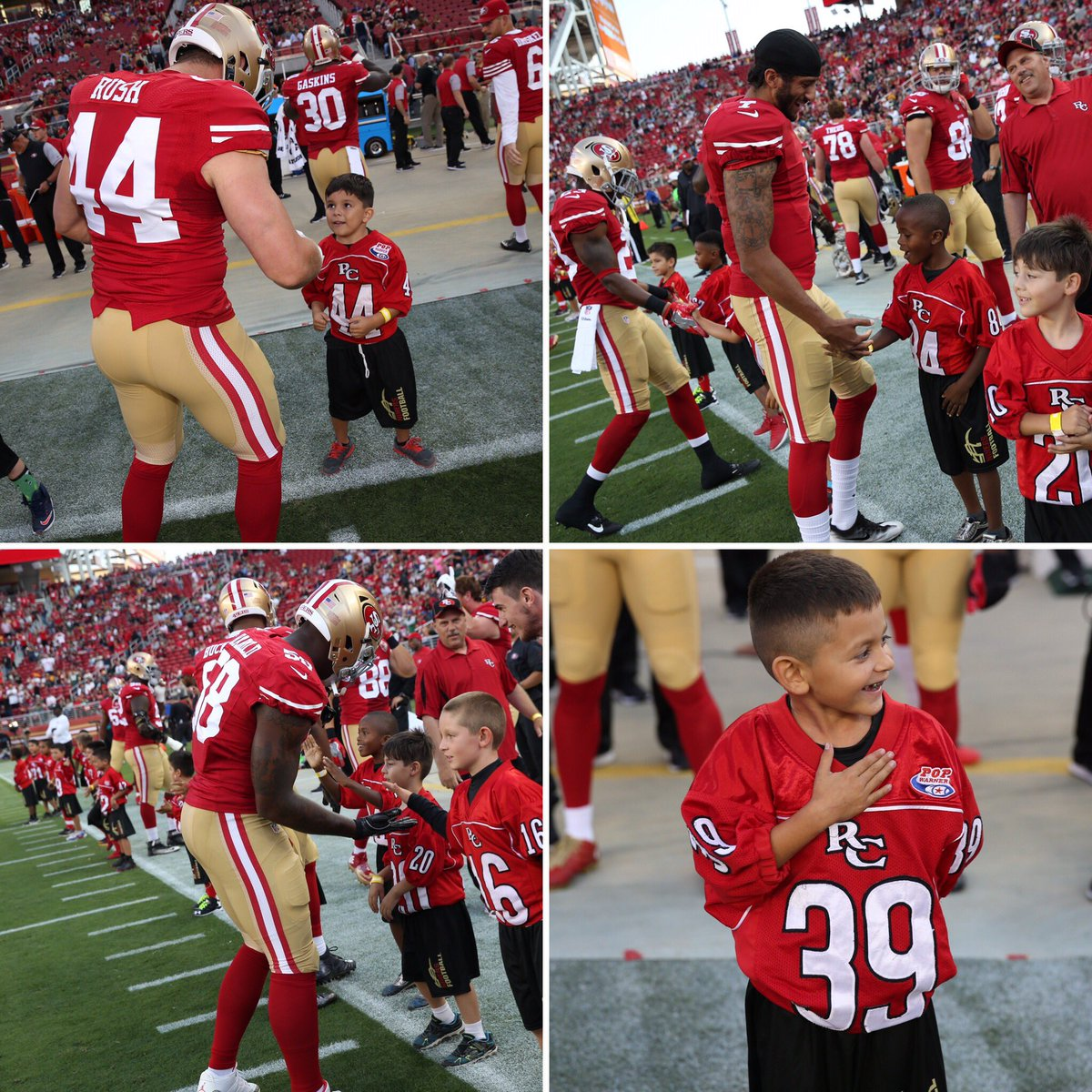 49ers youth football on twitter 49ers meet 49ers the redwood city 49ers youth football on twitter 49ers meet 49ers the redwood city 49ers tiny mites were a hit with their 49ers idols tonight letsplayfootball m4hsunfo