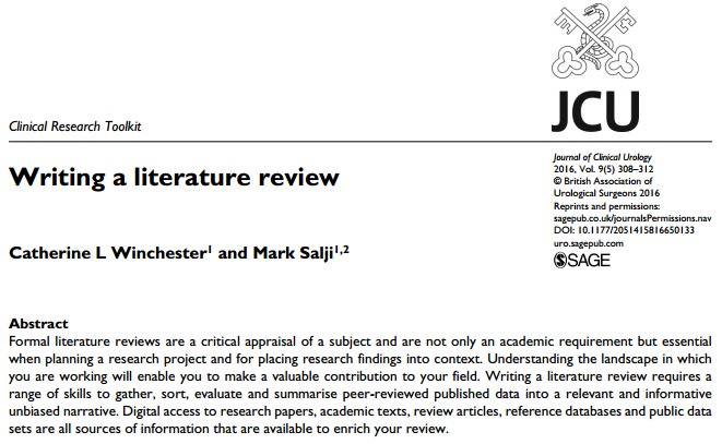 ... literature review - Excellent Academic Writing Service for You