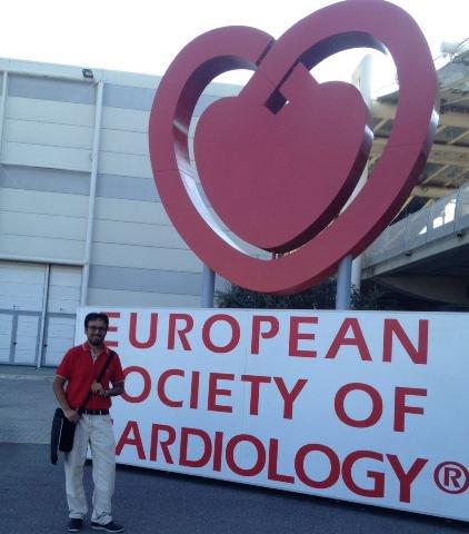 Nuestro Cardiologo el Doctor @Ed_Alania en el Congreso @escardio European Society of Cardiology de Roma. Enhorabuena