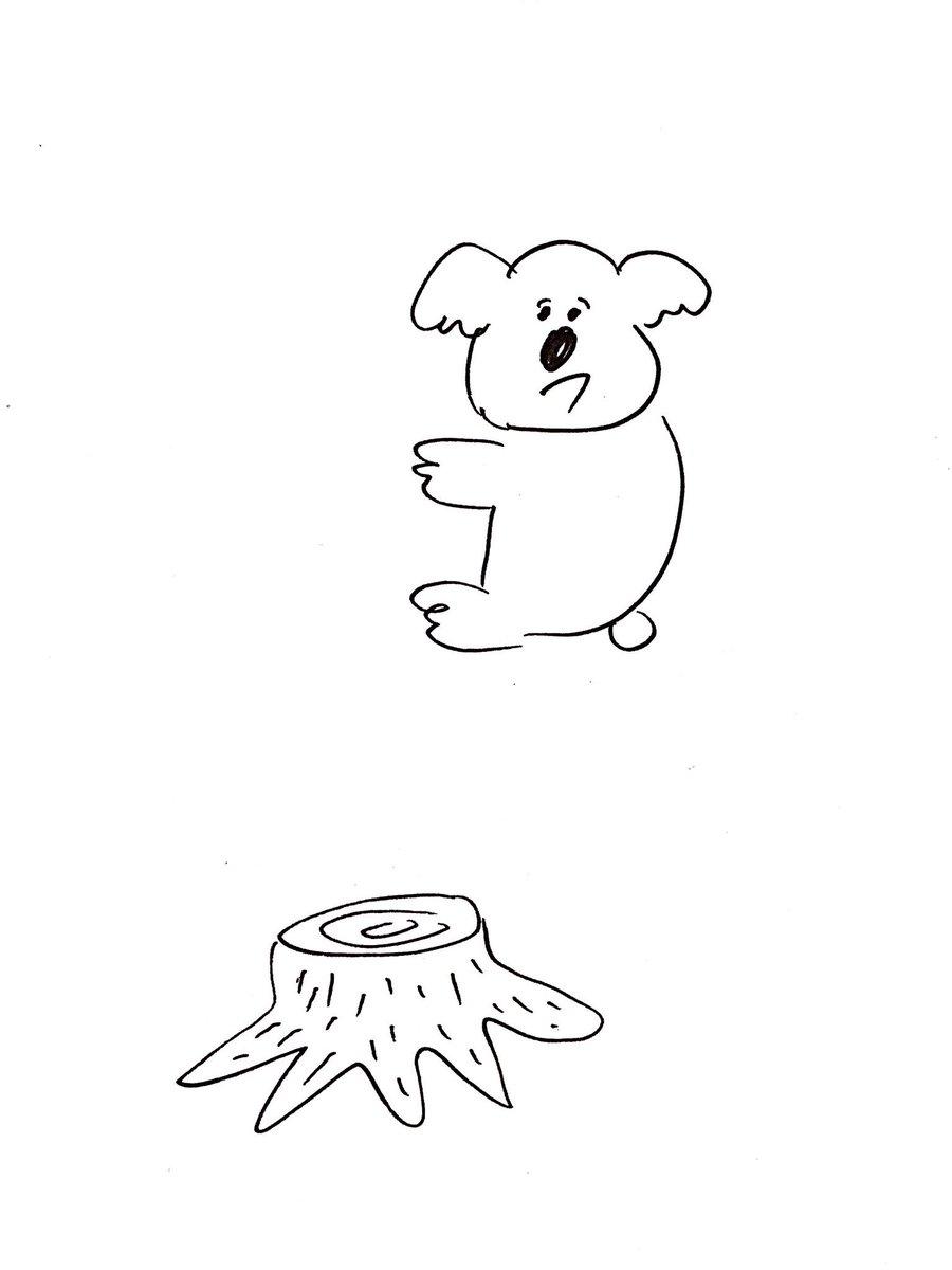 [イラストネタ]過去にしがみつくコアラ[2016年8月27日]