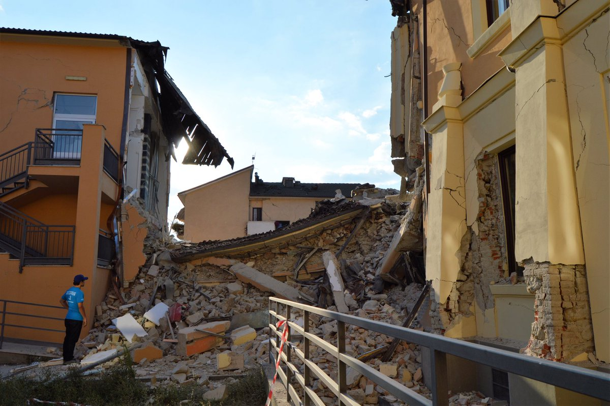 """Amatrice in ruins"" says our Team on the ground. We will continue assessing neighboring towns & villages #Earthquake https://t.co/UFZr4jPnnj"