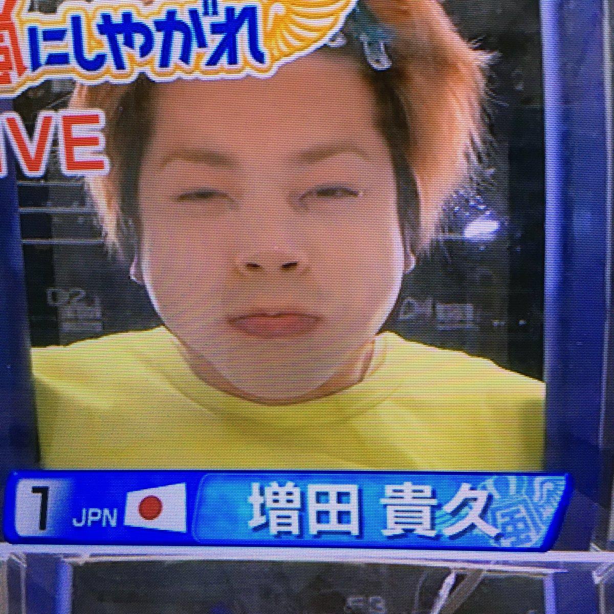 メダルをとった水泳選手に息止め競争で勝った増田の顔がまるでポニョwww