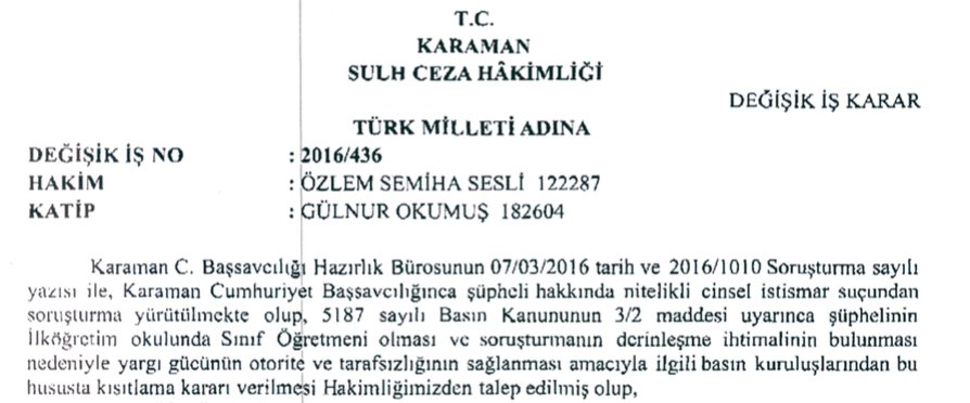 21) Fearing from the backlash & fallout, a gag order issued by #Karaman criminal court judge on 7 March 2016. https://t.co/z9Y4baxeED