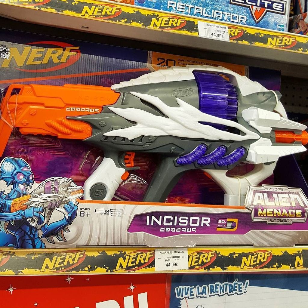 All you need is a vest with wings on the back and an emo haircut to be just  like Daryl. NERF also has an alien themed line and you can get the Alien  Menace ...