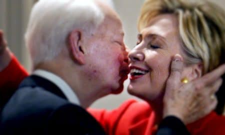 Hillary lionized a former KKK leader who filibustered the Civil Rights Act--worse than anything @realDonaldTrump did