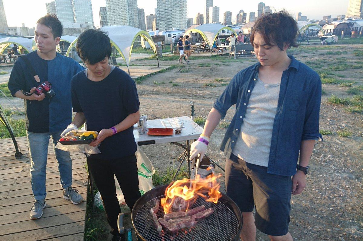 """紀ノ 貴紀 on Twitter: """"バーベキューしました。今年最後の夏行事。3人 ..."""