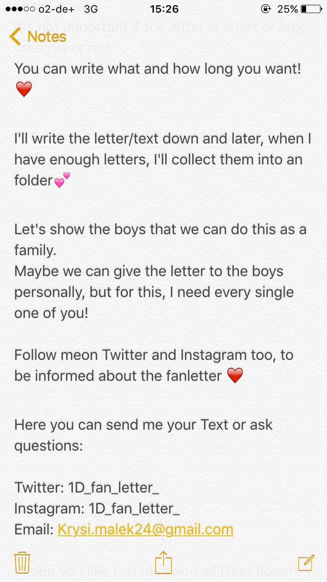 1d fan letter 1dfanletter twitter expocarfo Choice Image