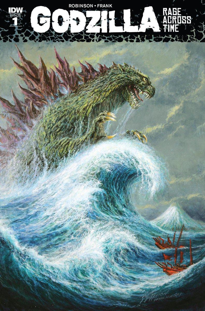 ゴジラのアメコミ『Godzilla: Rage Across Time』が素敵。1274年、蒙古軍がガイガン&メガロというチョイス・センスのイイ怪獣を率いて博多湾を襲来。そして嵐ではなくゴジラが蒙古艦隊を迎え撃つ燃えるお話ですよ。 https://t.co/3XpmKahTgr