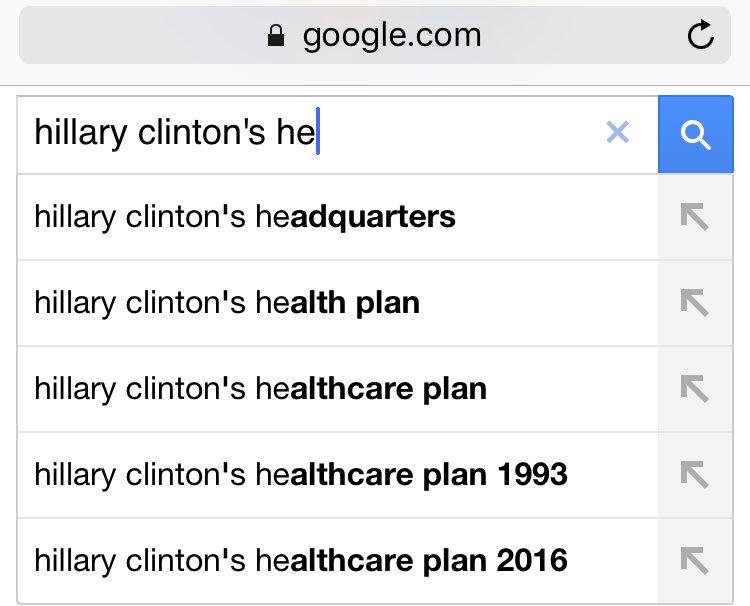 Google Clinton search