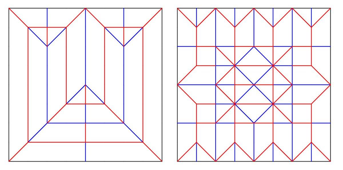 シン・ゴジラに登場する折り紙。気づき難いですが実は2種類ありますね(パンフレットには明確に映ってます)。紙の変形によってゴジラの進化を表現したかったのではと推測します。その2種類の展開図はこちら。右側は結構折るのが難しいです。 https://t.co/sjz80AtB8V