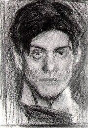 h/t @jamiesont, here is a charcoal self portrait of Alastair Cook and a photo of a young Pablo Picasso. https://t.co/L0rsy0VNRz