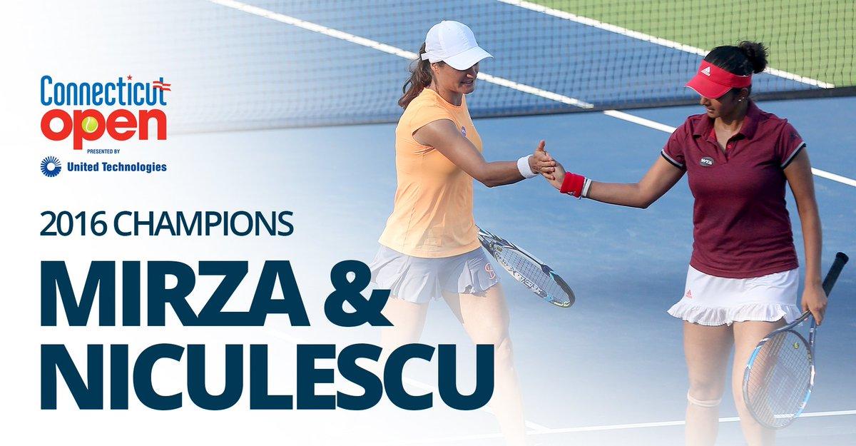 CHAMPS! Mirza/Niculescu win the #CTOpen16 doubles title 7-5, 6-4 over Bondarenko/Chuang https://t.co/Yi8WMVeUxX