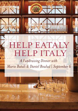 Chefs @MarioBatali & @DanielBoulud team up for a benefit dinner Sept. 6:  https://t.co/RGsE9GQ3hW https://t.co/k2Vuy3vdrg