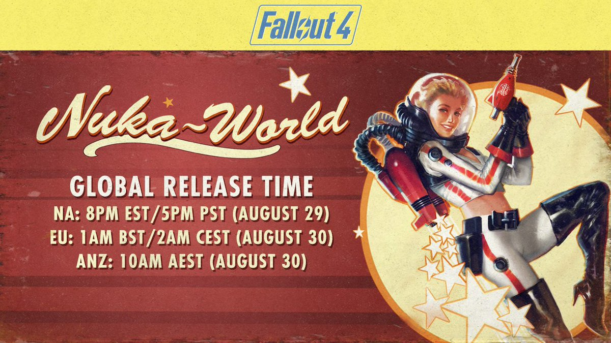 Fallout 4 Nuka World global release time
