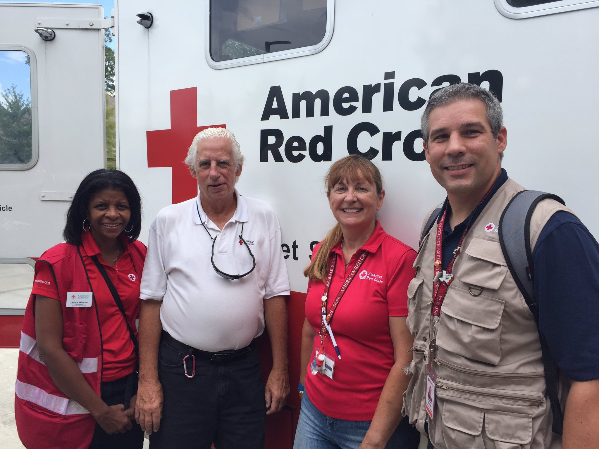Volunteers from Buxco, Montco and Philly in Baton Rouge for @redcross response to #laflood https://t.co/WhIYGucB1m