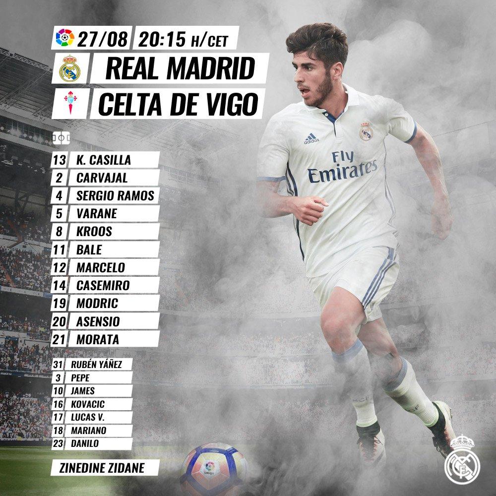 Once Titular Del Real Madrid Para Enfrentar Al Celta De Vigo